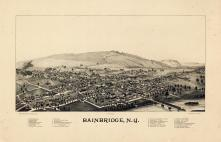 Bainbridge 1889 Bird's Eye View 17x25, Bainbridge 1889 Bird's Eye View